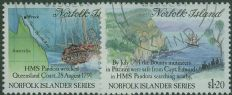 NFI SG516-7 History of the Norfolk Islanders (3rd issue) Search for the Bounty set of 2